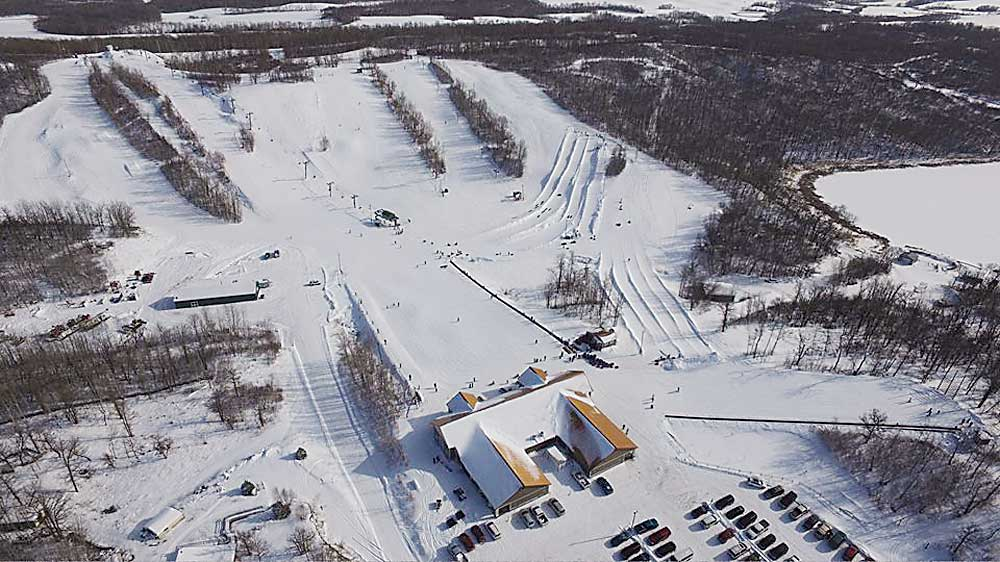 Submitted Photo This aerial view of the Bottineau Winter Park shows the different trails available as well as Annie's House.