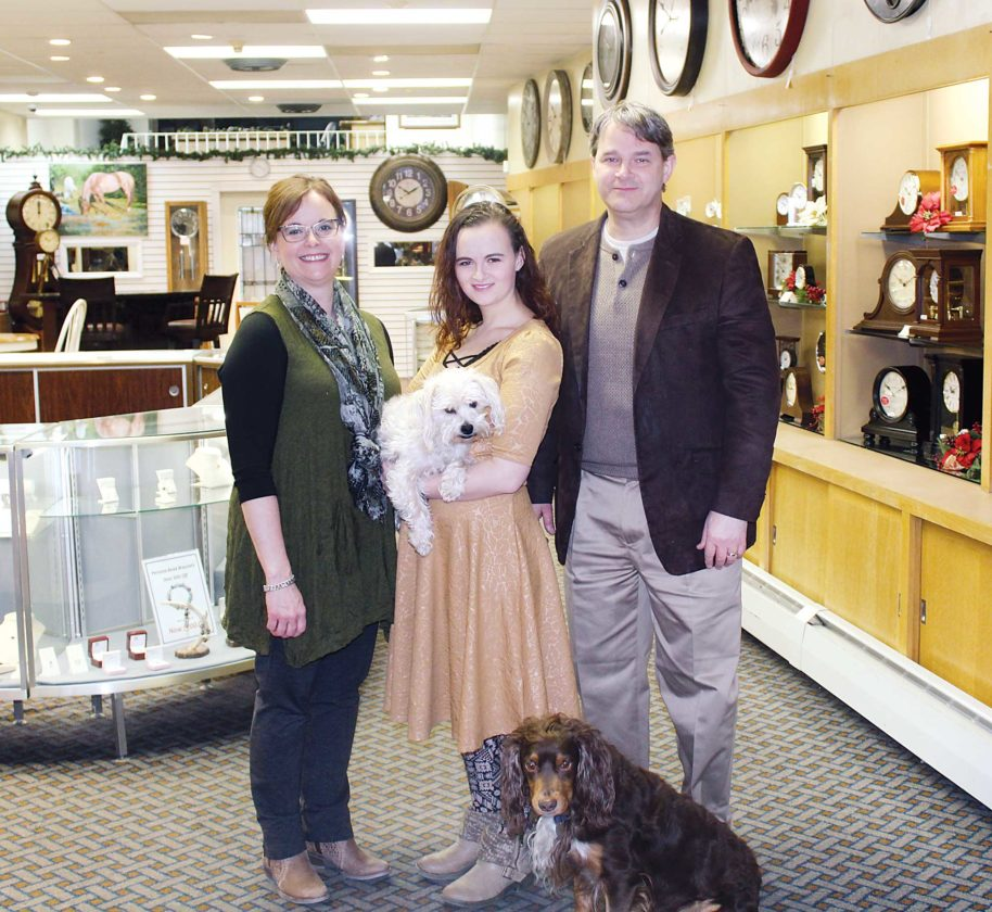 Ashton Gerard/MDN The fourth and fifth generations of Liens at their store, Lien's Jewelry, in downtown Minot. From left are Sheri Lien, Harvey, Taylor Lien, River, and Fred Lien Jr. Lien's is located at 107 S Main Street.