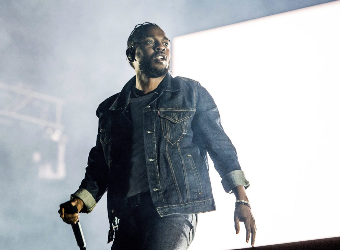 FILE - In this July 7, 2017, file photo, Kendrick Lamar performs during the Festival d'ete de Quebec in Quebec City, Canada. Lamar is nominated for seven Grammy nominations. The 60th Annual Grammy Awards will air on CBS, Sunday, Jan. 28, 2018, in New York. (Photo by Amy Harris/Invision/AP, File)