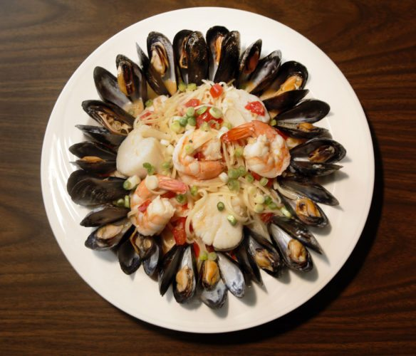Lent inspires a seafood item at Sarello's in Moorhead. Mussels, shrimp and scallops go into this dish. Dave Wallis / The Forum