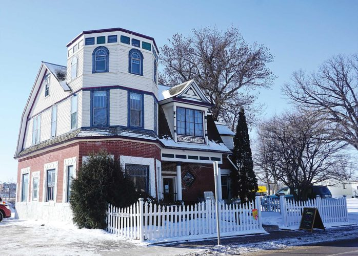 Jill Schramm/MDN The 119-year-old Home Sweet Home house hosted its last day as a retail shop in its current location Thursday. The house is to be moved across the street to make way for Minot's flood protection project.