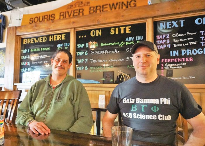 Mike Novy and Bryan Schmidt at Souris River Brewing are part of the small business, dining culture of downtown. They see opportunities for socialization bringing more people to the downtown in the future.   Jill Schramm/MDN