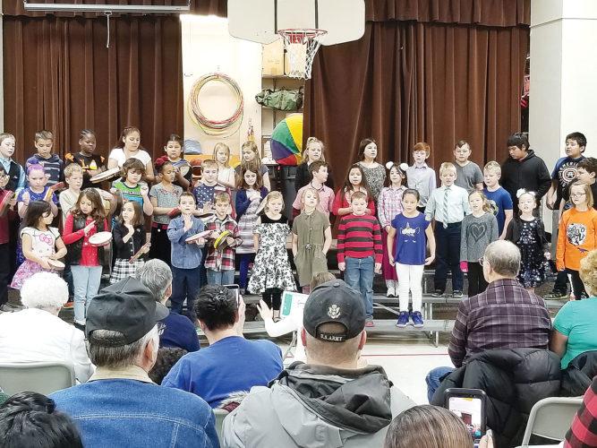 Third-graders honor veterans