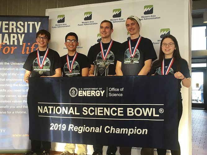 Minot High students are 2019 Regional Science Bowl Champions