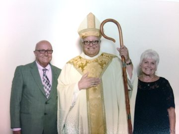 Grace and Tony Krukowski with Bishop George V. Murry