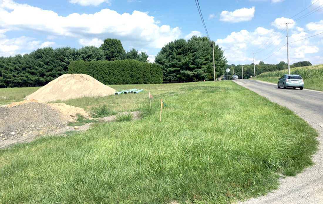Morning Journal/Katie White This portion of city-owned property along Metz Road will serve as the site of a future second fire station for Columbiana. City Council is moving forward with legislation to begin the bidding process for the building's construction.