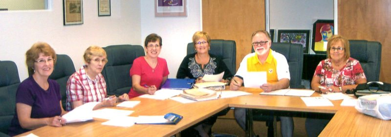 Submitted photo The Board of Directors for the Columbiana County Retired Teachers Association (CCRTA) (from left) Colleen McCoy, Nancy Dicken, Paula Patterson, Gayle Noel, Jerry Barnes and Rosemary Bruehler prepare for the 50th anniversary. All Columbiana County retired educators are welcome at noon Thursday at the Methodist Church in Lisbon. Reservations can be made by calling Bruehler at 385-9369.