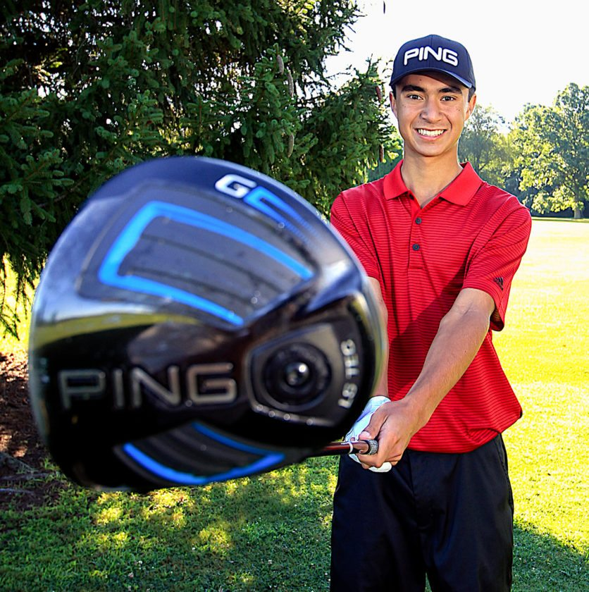 Columbiana senior Jared Wilson, the defending Division III state champion, is making his fourth trip to the state golf tournament. (Morning Journal/Wayne Maris)