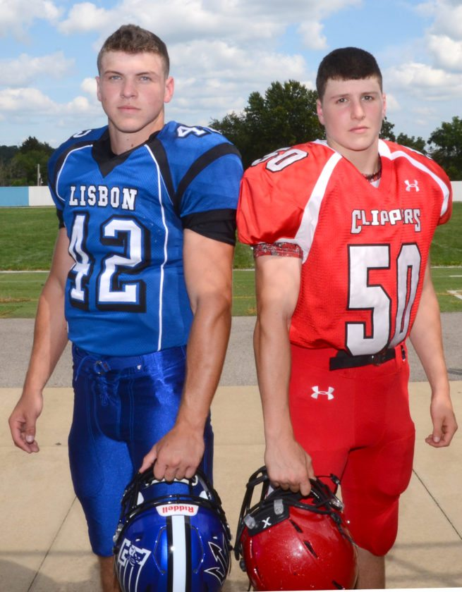 Lisbon's Cam Summers and Columbiana's Zach Witherow will lead their teams into Friday's showdown at War Memorial Stadium. (Morning Journal/Patti Schaeffer)