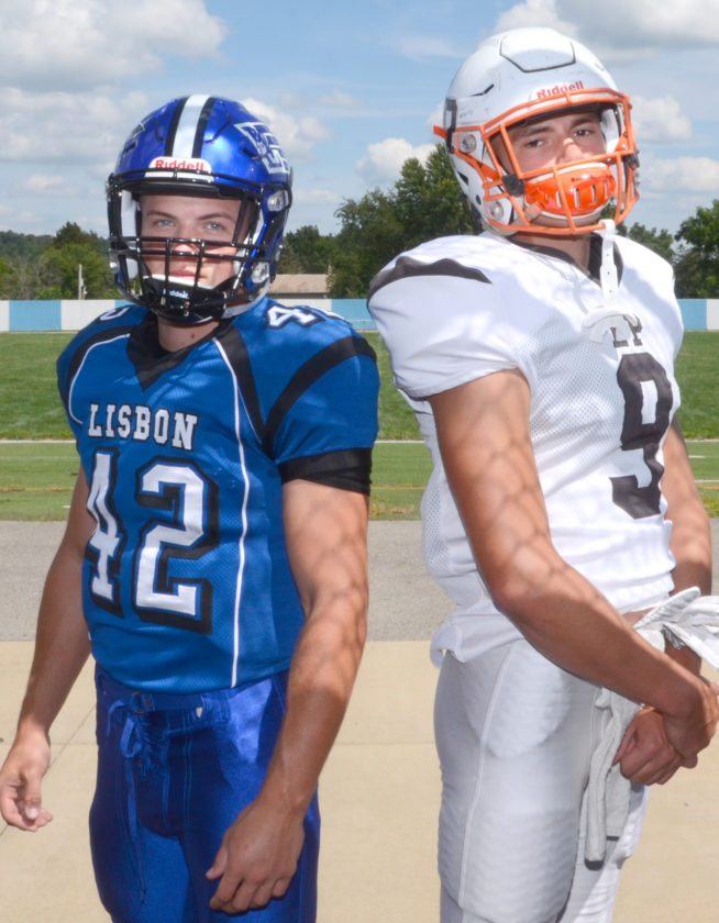Morning Journal/Patti Schaeffer Lisbon's Cam Summers and East Palestine's Branden Kemp will lock horns in a key Eastern Ohio Athletic Conference battle set for 7 p.m. today at Memorial Stadium in Lisbon.