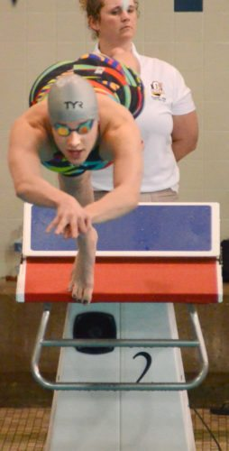 Crestview's Rebekah Klem swam to a seventh place finish in the Div. II 100-yard breast