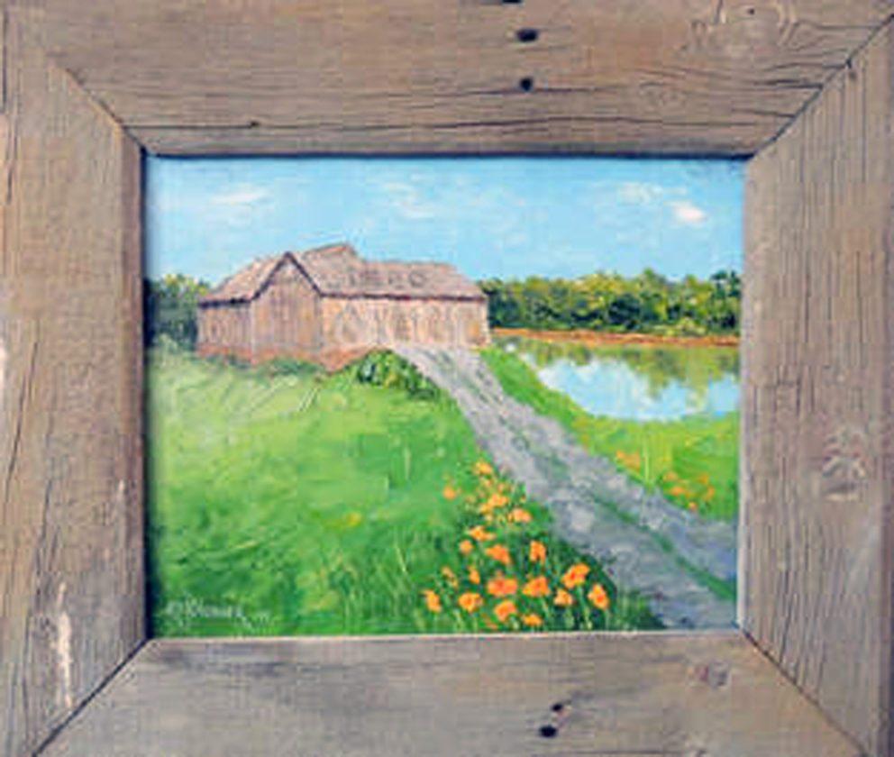 Firestone Homestead Barns Capture Painter's Interest