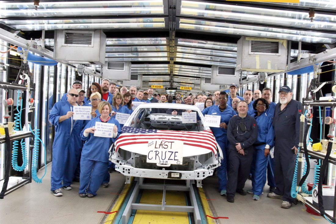 Last auto  to roll off assembly line at Ohio GM plant