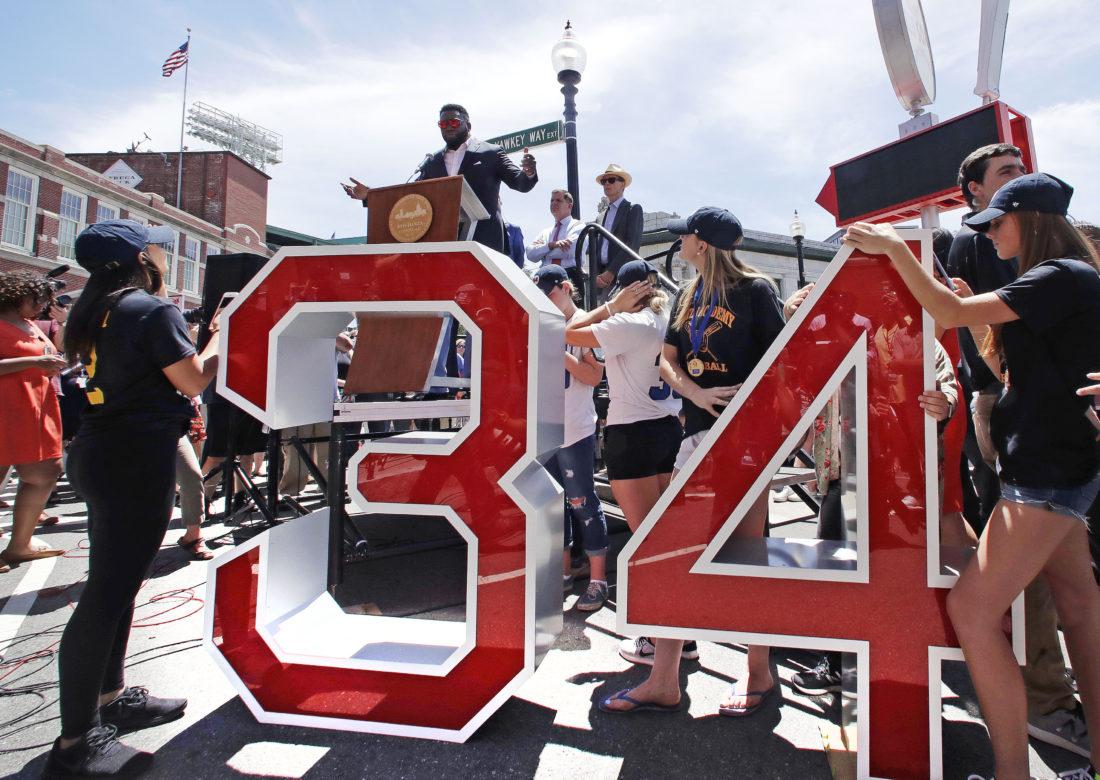 Red Sox retire No. 34 for David Ortiz