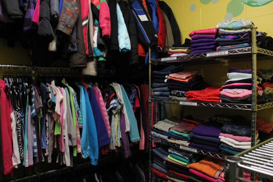 Amazing Staff Photos By Hannah LaClaire Clothing Donations On Display In The  Catieu0027s Closet At Dr. Crisp Elementary School. Students In Need Of  Provisions Are ...