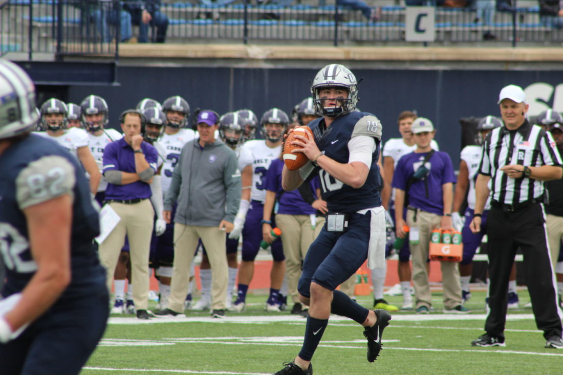 Amherst S Knight Breathes Life Into Unh Football With 4 Td Day
