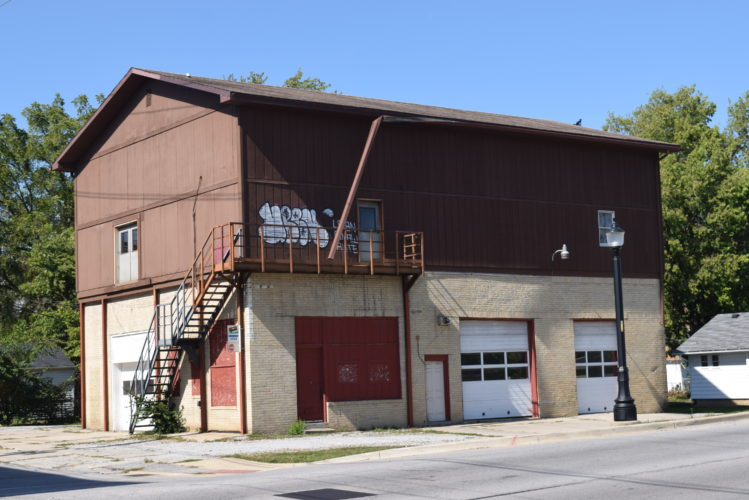 This building on North Clinton Street at Jacobs Street will become a distillery if a couple's plans come together. (By Lisa M. Esquivel Long of The News-Sentinel)
