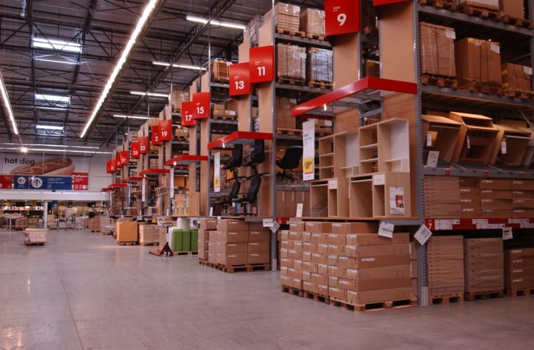 IKEA Fishers customers can buy unassembled furniture in its self-serve warehouse and take it home the same day.  (Photo courtesy of IKEA)