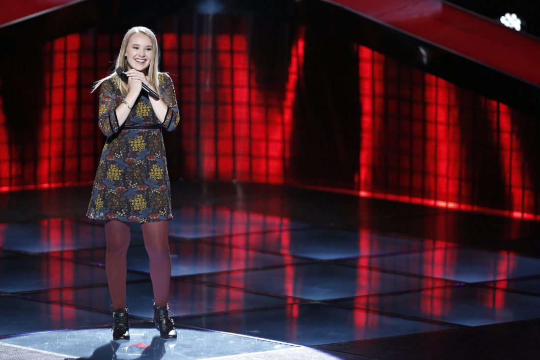 """THE VOICE -- """"Blind Auditions"""" -- Pictured: Addison Agen -- (Photo by: Tyler Golden/NBC)"""