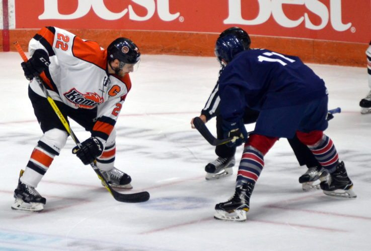Komets captain Jamie Schaafsma says players will have to adjust quickly to the new emphasis on slashing and faceoff rules. (By Blake Sebring of The News-Sentinel.com)