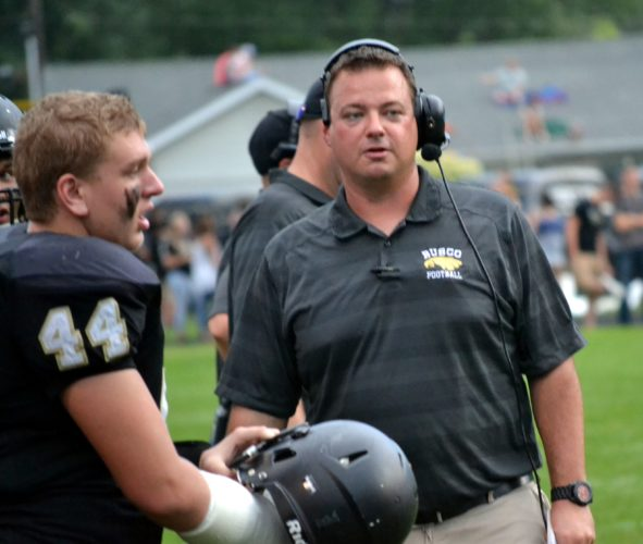 Churubusco coach Paul Sade has his Eagles 8-1 entering the postseason despite the loss of two-way standout Garrett Horn early in the season. (News-Sentinel file photo)