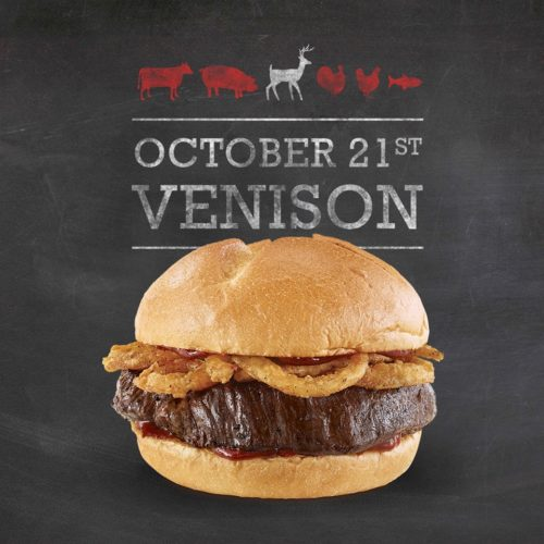 The thick-cut Arby's venison steak will be topped with crunchy onions. (Courtesy of Arby's)