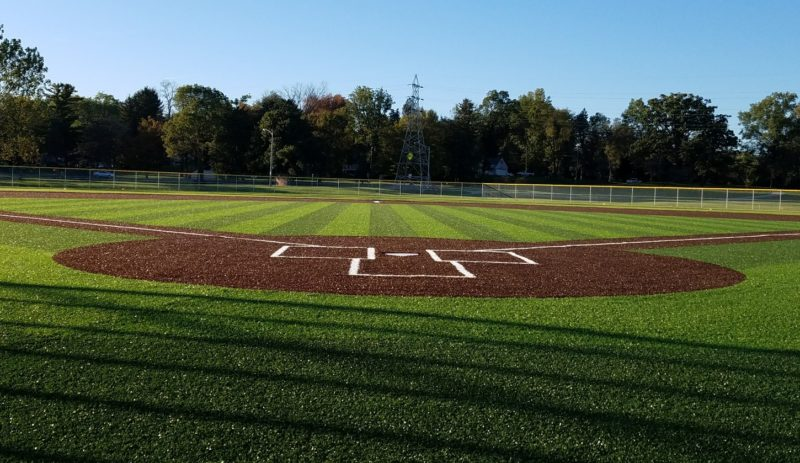 A look from behind home plate at one of the fields at the new World Baseball Academy complex at the ASH Centre, 1701 Freeman St. (Photo by Reggie Hayes of news-sentinel.com