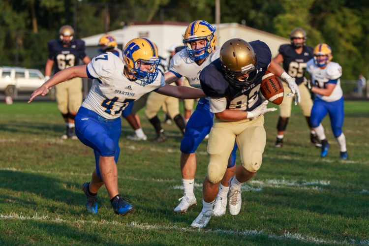 Can Bishop Dwenger make a run in Class 4A? The Pigskin Prophet believes the Saints have as good of a chance as any local 4A squad. (News-Sentinel file photo)
