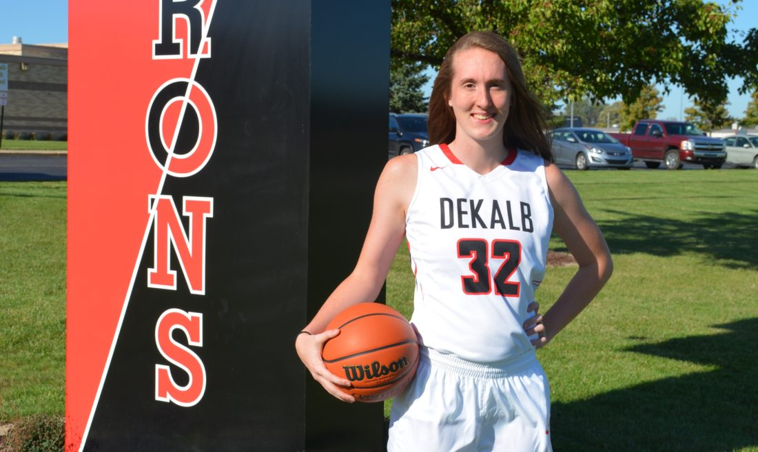 DeKalb's Leigha Brown scored 54 points Friday against Lakeland, the second highest total for any area girl ever. (Photo by Dan Vance of news-sentinel.com)