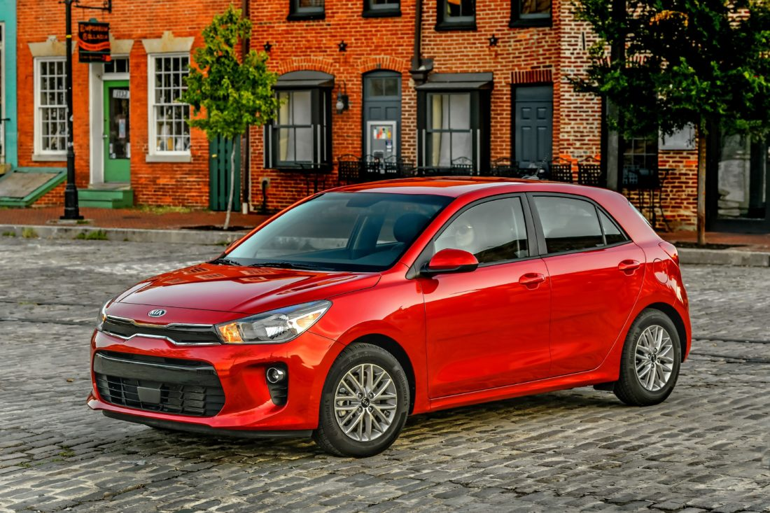 This photo provided by Kia shows the 2018 Kia Rio, which has been completely redesigned. The Rio features mature design, sporty handling, and a range of trim levels from budget-minded to full-featured. (Courtesy of Kia Motors America via AP)