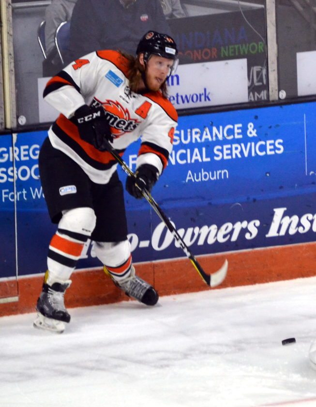 Komets veteran Cody Sol has been selected by coach Gary Graham to serve as an alternate captain this season. (By Blake Sebring of News-Sentinel.com)