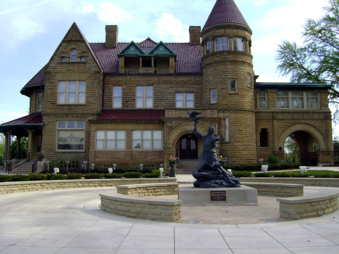 Brookside Mansion is seen at the University of Saint Francis Spring Street campus. The campus will have a drill Monday morning, so the public should not be alarmed if they see a police presence there. (News-Sentinel.com file photo)