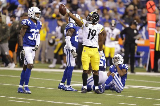 JuJu Smith-Schuster, steelers vs colts, steelers game ball poll winners