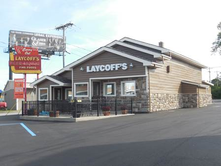Laycoff's, 3530 N. Clinton St., improved its exterior last year with the help of a $20,000 city facade grant. (Courtesy photo)