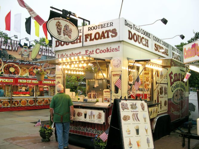"""The Cooking Channel's """"Carnival Eats"""" crew visited last summer's Three Rivers Festival's Junk Food Alley for an episode set to air Thursday. (News-Sentinel.com file photo)"""