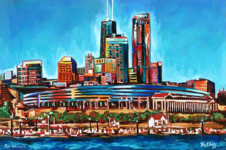 """Terry Ratliff, whose """"Chicago Skyline"""" is pictured here, will be among more than 30 area artists and craftspeople whose work will be for sale during The Art Studio Holiday Gallery Nov. 24-Dec. 24 in Jefferson Pointe shopping center. (Courtesy photo)"""
