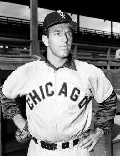 """In this Feb. 20, 1953, file photo,  Manuel """"Jungle Jim"""" Rivera, of the Chicago White Sox 1953, poses. Rivera, an outfielder on the 1959 """"Go-Go"""" White Sox pennant-winning team, has died Monday night in Fort Wayne, Ind. the team said Tuesday, Nov. 14, 2017. He was 96. (AP Photo/File)"""