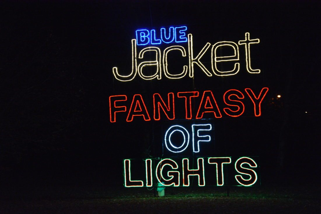 The Blue Jacket Fantasy of Lights has added a half-mile to the route through Franke Park and 10 displays and this year includes free hot chocolate and popcorn. (Photo Lisa M. Esquivel Long of News-Sentinel.com)