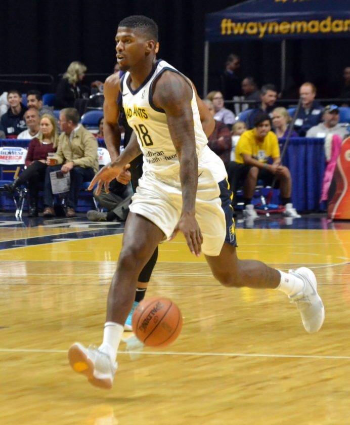 Mad Ants forward DeQuan Jones played in France last year which meant he had difference experiences over the holidays. (By Blake Sebring of News-Sentinel.com)