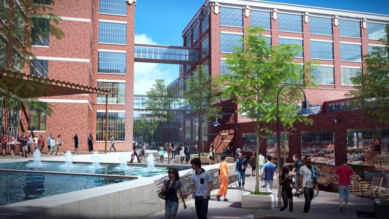 """The former GE campus could be converted into the """"Electric Works"""" for a cost of $300 million or more, if the site is decontaminated. (Courtesy image)"""