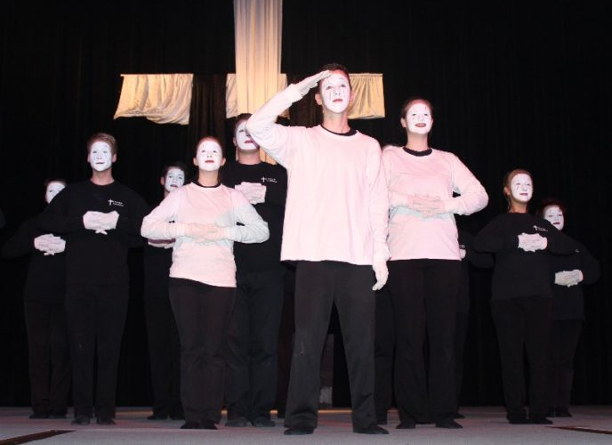 The MIMEtime mime group of Central Ministries in Leo-Cedarville will be among the performers this Saturday and Sunday during Christmas in the Park in Franke Park. (Courtesy of Christ Child Festival)