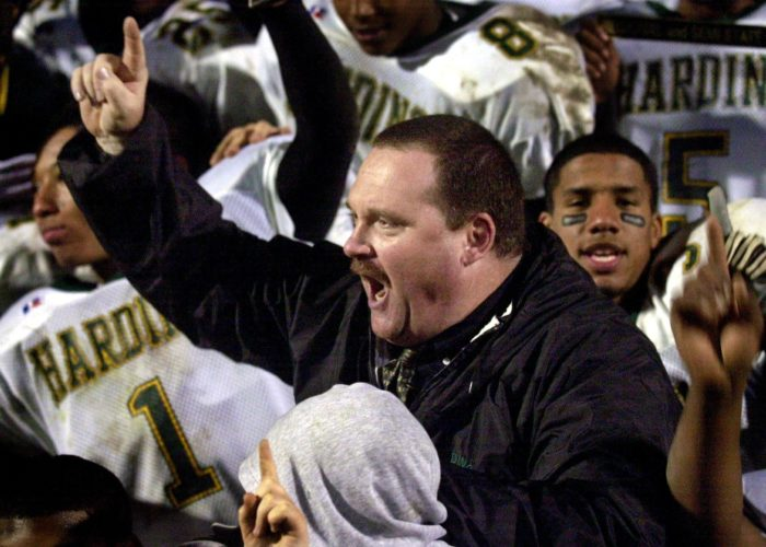 THEN: Back in 2003, Sherwood Haydock led the Harding Hawks to their first-ever appearance in the state finals. (News-Sentinel file photo)