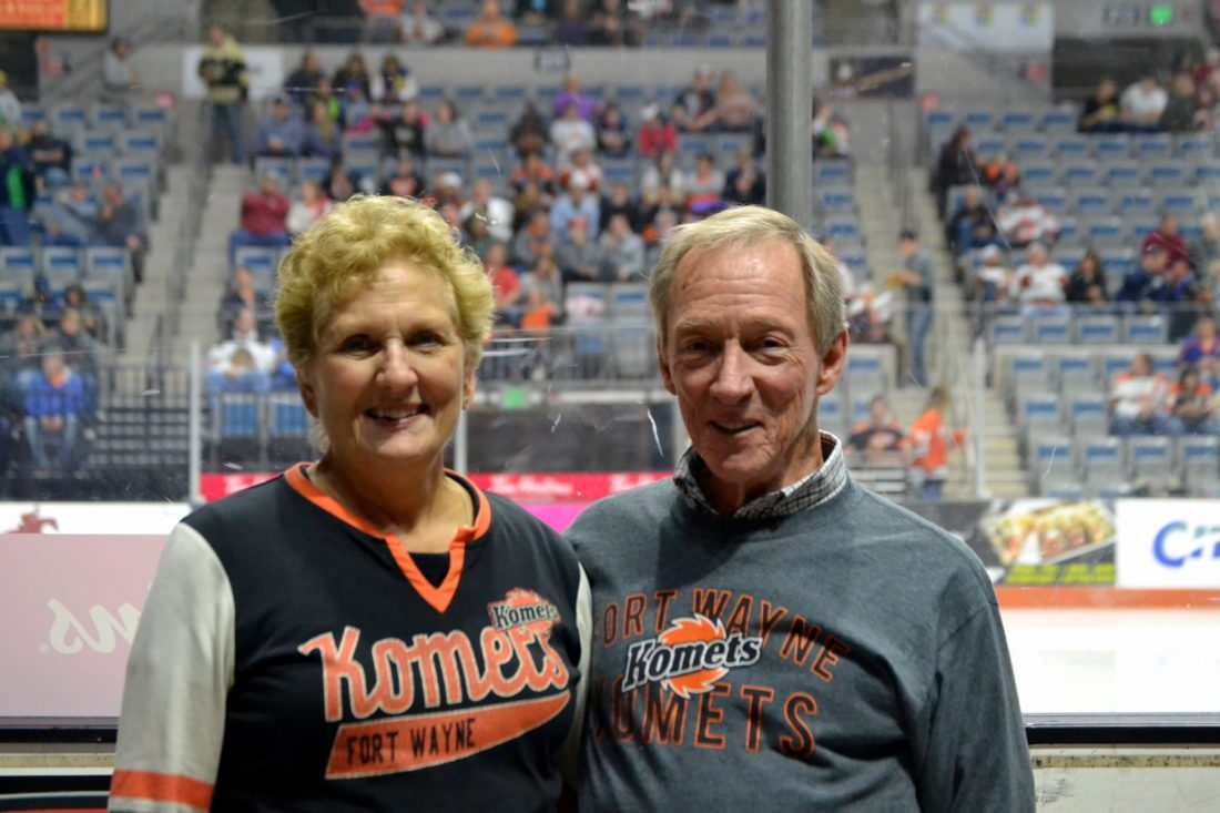 Married for 43 years, Dan and Margo Phillips have been driving to Komets games this season from Knoxville, Tenn. (By Blake Sebring of News-Sentinel.com)