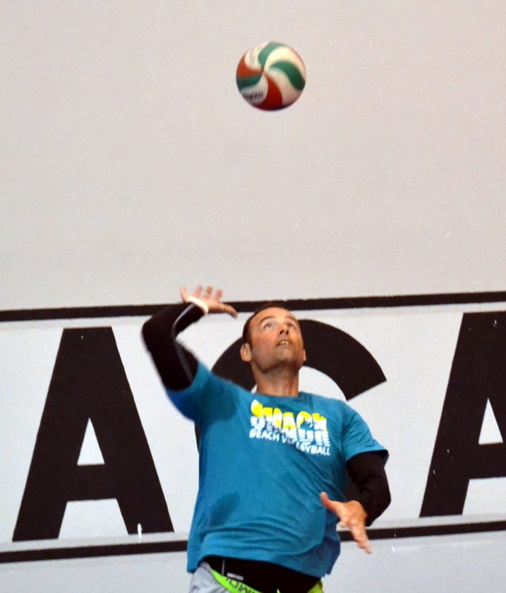 2008 Olympic volleyball gold medalist Lloy Ball is back in training with his Team Pineapple teammates to participate in a new professional volleyball pro league making its debut Dec. 7 in Las Vegas. (By Blake Sebring of News-Sentinel.com)