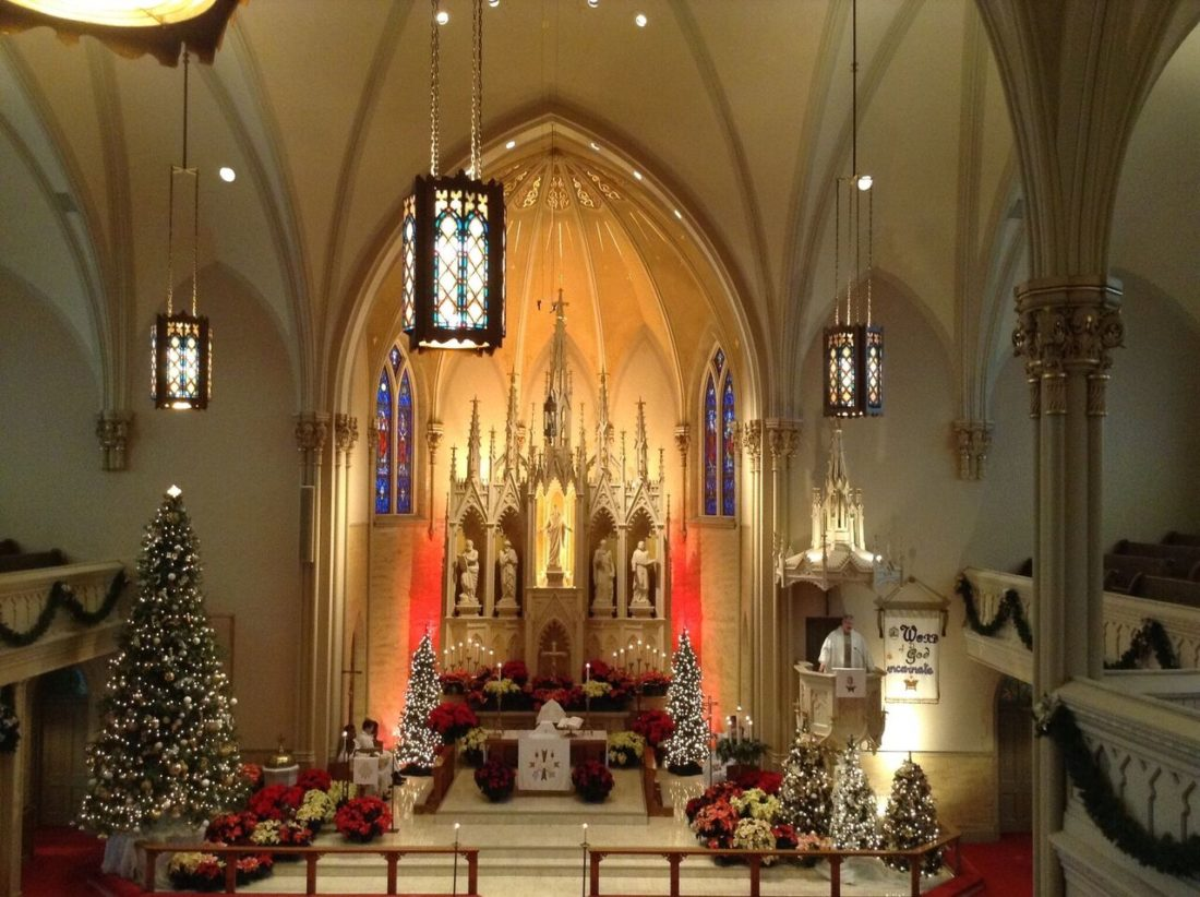 Zion Lutheran Church, 2313 S. Hanna St., is one of 17 churches participating in the second annual Christmas open house tour Friday. (Courtesy photo)