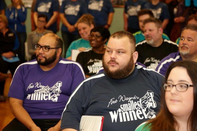 Matt Wilson, second from left, weighed 452 pounds when he started the Fort Wayne's Smallest Winner program in 2016. (Courtesy photo)
