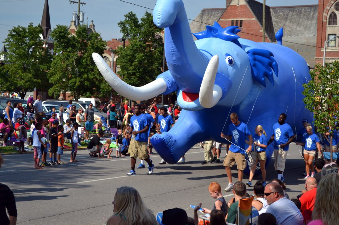 The Three Rivers Festival Parade draws thousands of spectators as it passes through downtown Fort Wayne. The theme for the 2018 parade will celebrate the festival's 50th anniversary. (News-Sentinel.com file photo)