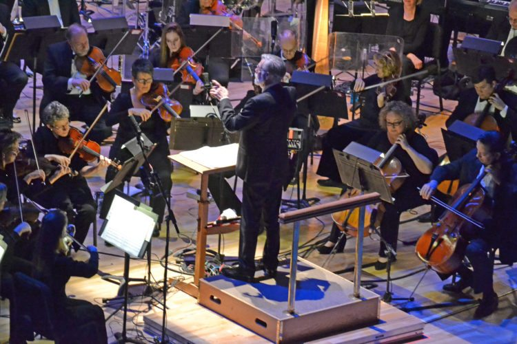 "Guest conductor Rick Bower of Markle guides the Fort Wayne Philharmonic in ""Sleigh Ride"" during the Holiday Pops in 2016.  The Holiday Pops event is getting a makeover for this year.(News-Sentinel.com file photo)"