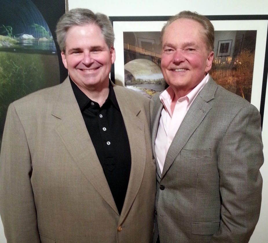 Fort Wayne Children's Co-Founder Byron Braun, right, poses with former foundation Vice Chairman Blake Poindexter. (Courtesy photo)