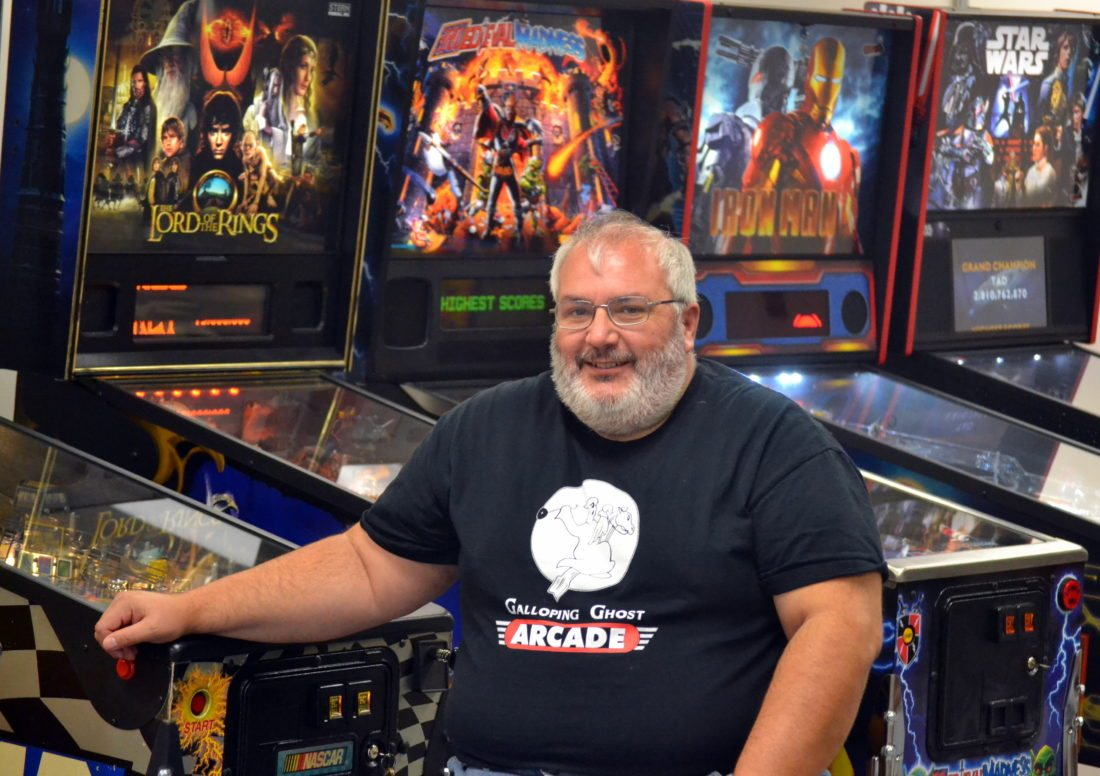 Local businessman Mike Burgess is going to open a pinball arcade in Huntertown. (By Blake Sebring of News-Sentinel.com)